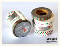 ムーミンマスキングテープセットの(プレゼント/X'mas ver)シリーズ。
