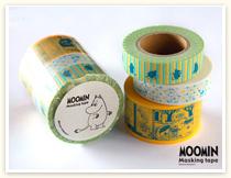 ムーミンマスキングテープセットのムーミンシリーズ。