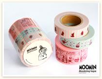 ムーミンマスキングテープセットのリトルミイシリーズ。